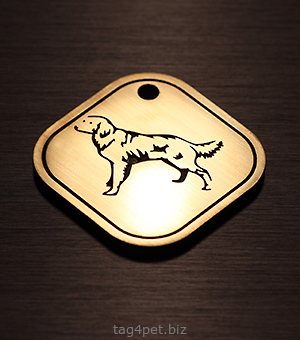 Жетон для собак породы Лангхаар