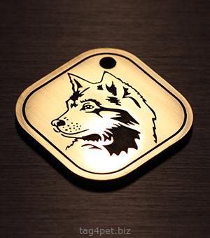 Адресный жетон для собак породы Сибирская хаски