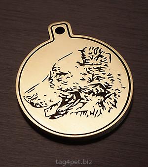 Жетон для собаки породы Среднеазиатская овчарка