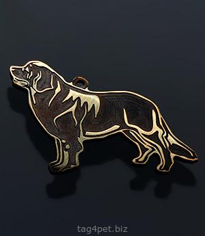 Жетон для собаки породы Ньюфаудленд
