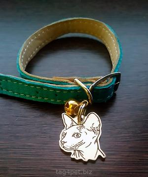 Адресник для котов и кошек с изображением породы Сфинкс